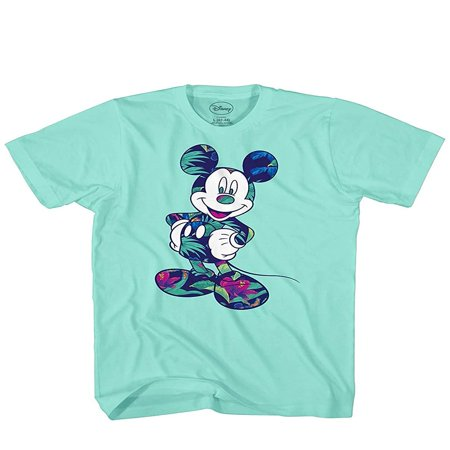 Disney Mickey Mouse Tropical Mint Green Disneyland World Tee Funny Humor Adult Mens Graphic T-Shirt Apparel](Mickey Mouse Custom)