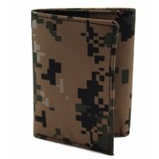 964a696d1e30 Army Military Men s Leather Tri-fold Camouflage Wallet 7 Card Slot in Gift  Box