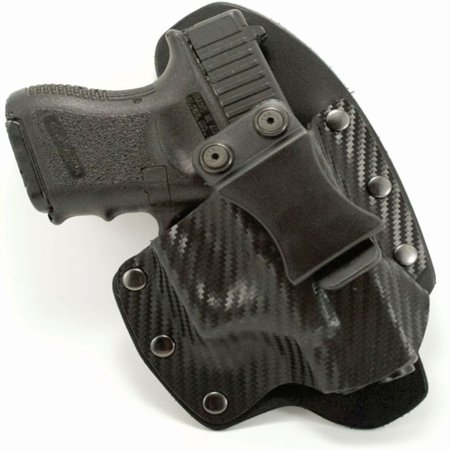 Outlaw Holsters: NT Hybrid Black Carbon Fiber Kydex & Leather IWB Gun Holster for Walther PPK/S, Right
