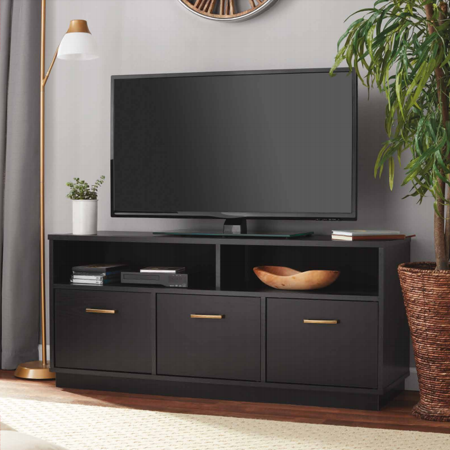 - Mainstays 3-Door TV Stand Console for TVs up to 50