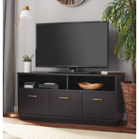 "Mainstays 3-Door TV Stand Console for TVs up to 50"", True Black Oak Finish"