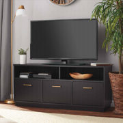 "Mainstays 3-Door TV Stand Console for TVs up to 50"", Blackwood Finish"