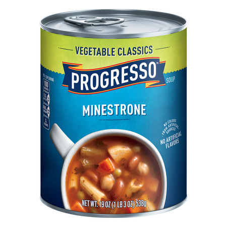 (3 Pack) Progresso Vegetable Classics Minestrone Soup, 19 oz (India Soup)