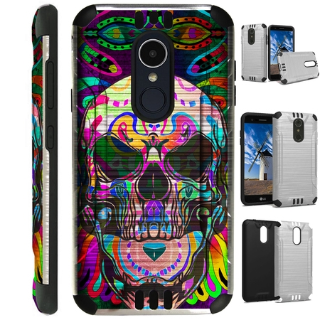 Silver Guard Phone Case Cover For LG Stylo 4 | Stylo 4 Plus | Q Stylus Q Plus Q Alpha (Skull Tattoo)