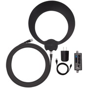 Antennas Direct 50 Mile Range Clearstream Eclipse Amplified Indoor HDTV Antenna, White/Black (ECL-A)