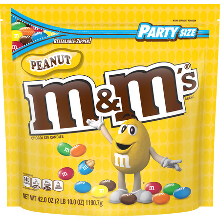 After Halloween Candy Sale Best (M&M's, Peanut Milk Chocolate Candy, Party Size, 42)