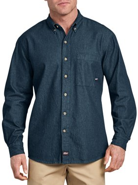 Genuine Dickies Big Men's Long Sleeve Denim Shirt