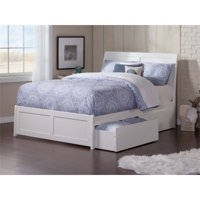 Rosebery Kids Twin XL Storage Platform Bed in White