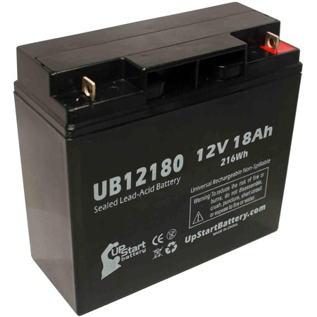 Replacement UpStart UB12180 Battery for APC SMART UPS 1500, SMART-UPS 3000, RBC7, SMART-UPS 1400, SUA1500, RBC43, 1000XL Universal Sealed Lead Acid Battery (12V, 18Ah, T4 Terminal, AGM, (Apc Smart Ups 3000 External Battery Pack)