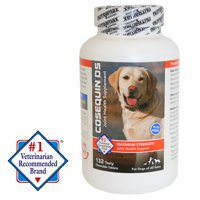 Nutramax Cosequin Maximum Strength (DS) Plus MSM Chewable Tablets Joint Health Supplement for Dogs, 132 Chewable Tablets