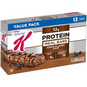 (2 Pack) Kellogg's Special K Protein Meal Bar, Chocolatey Chip, 12g Protein, 12 Ct