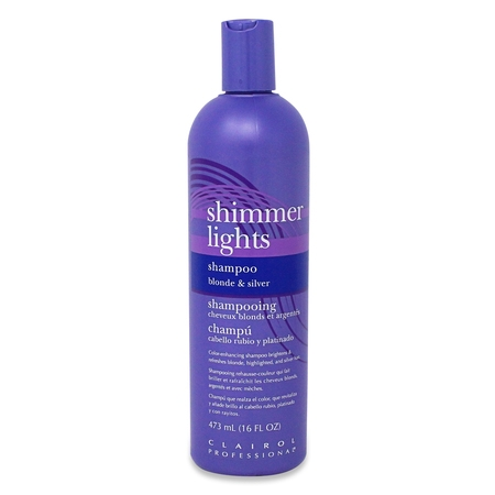 Clairol Professional Shimmer Lights Blonde and Silver Shampoo, 16 Fl Oz](Ava Blonde)