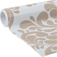 Duck Deco 20 In. x 12 Ft. Adhesive Laminate Shelf Liner, Taupe Swirl