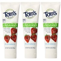 Tom's Of Maine Silly Strawberry Anticavity Toothpaste 3 Pack