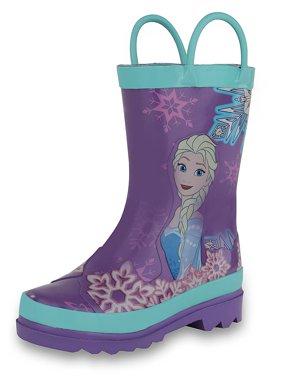 Disney Frozen Girls Anna and Elsa Pink Rain Boots ( Toddler / Little Kids)