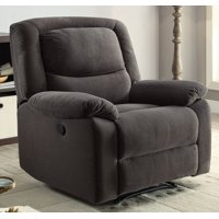 Serta Push-Button Ultra Comfortable Reclining Chair with Deep Body Cushions (Grey)
