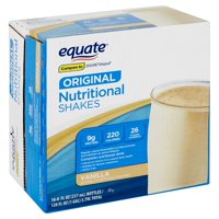 Equate Original Vanilla Nutritional Shakes, 8 fl oz, 16 count