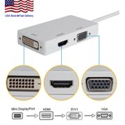 3 in1 Mini Cable Adapter Display Port Thunderbolt To HDMI DVI VGA for MacBook iMac(