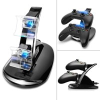 TSV LED Dual Charging Dock Base Station Charger for Xbox One / Xbox One S Controller