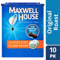 Maxwell House Original Roast Ground Coffee Filter Packs 10 count Box