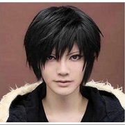 Black Short Wigs Straight Toupee Hair Wig for Women Men Halloween Cosplay Party  Costume fd6d9bfad