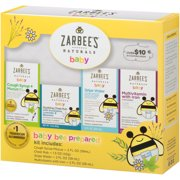 Zarbee's Naturals Baby Bee Prepared Kit, including Cough Syrup + Mucus, Chest Rub, Gripe Water, Multivitamin with Iron, , 7.5 Fl. Ounces Total