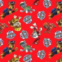 David Textiles Anti-pill Fleece Precut Fabric Paw Patrol Toss 1.5 Yds X 60 Inches
