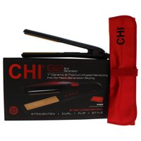 CHI G2 Ceramic Titanium Infused Hairstyling Flat Iron - Model # GF1595 - Black - 1 Inch Flat Iron
