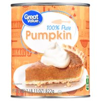 (2 pack) Great Value 100% Pure Canned Pumpkin, 29 oz
