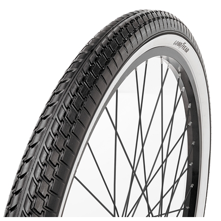 "Goodyear 26"" White Wall Folding Cruiser Bicycle Tire, Black"