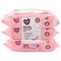 Parent's Choice Powder Fresh Baby Wipes, 3 packs of 72 (216 ct)