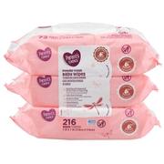Parent's Choice Powder Fresh Baby Wipes, 3 packs of 72 (216 ct)