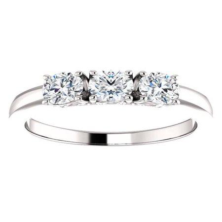 14k Celtic Engagement Ring - 3/4ct 3-Stone Diamond Engagement Ring 14k White, Yellow, or Rose Gold