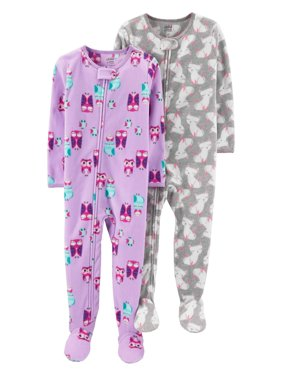 Microfleece Footed Blanket Sleeper, 2-pack (Baby Girls & Toddler Girls)