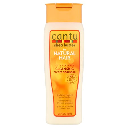 - Cantu Shea Butter for Natural Hair Sulfate-Free Cleansing Cream Shampoo, 13.5 Oz