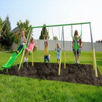 Sportspower Spring Breeze Me and My Toddler Metal Swing Set