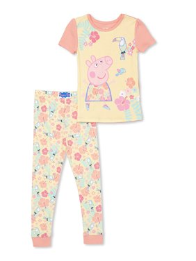 Cotton Tight Fit Pajamas, 2pc Set (Toddler Girls)