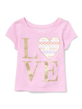 Short Sleeve Graphic Tee (Baby Girls & Toddler Girls)
