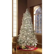 Holiday Time Artificial Christmas Trees Pre-Lit 7.5' Flocked Artificial Tree,  Clear Lights - Holiday Time Artificial Christmas Trees Pre-Lit 7.5' Flocked