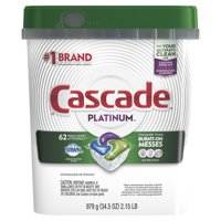 (2 Pack) Cascade Platinum ActionPacs Dishwasher Detergent, Fresh, 62 count