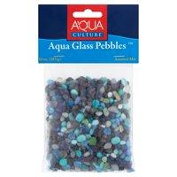 Aqua Culture Aquarium Pebbles, Aqua Glass, 10-Ounce