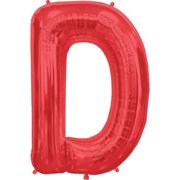 Letter D - Red Helium Foil Balloon - 34 inch 937a2b62f8