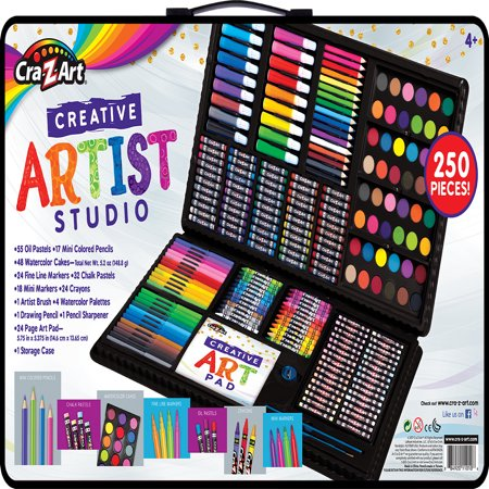 Cra-Z-Art Premium Quality 250 piece Creative Artist Studio](Coloring Set)