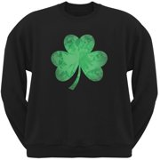 201ef609 St. Patricks Day - Jeweled Shamrock Black Adult Sweatshirt
