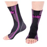Doc Miller Premium Ankle Brace Compression Support Sleeve Socks for Swollen Foot Plantar Fasciitis Achilles Tendonitis, Use as Injury Support Recovery Eases Pain Swelling 1 PAIR PINK