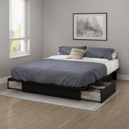 South Shore SoHo Storage Platform Bed with 2 Drawers, Multiple Sizes and