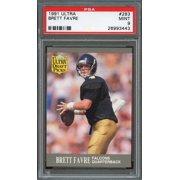 1991 Ultra 283 BRETT FAVRE Green Bay Packers Rookie Card PSA 9