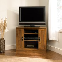 "Sauder Harvest Mill Corner Entertainment Stand for TVs up to 37"", Abbey Oak Finish"