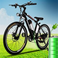 "Holiday Special! 25"" High power 25-35km/h 21 Speed System Electric Bicycle Mountain Bike With 3-speed smart Button Brushless Gear Motors Bike HITC"