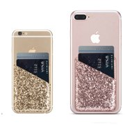 Dteck Cell Phone Wallet 2 Pack Bling Pu Leather Stick On For Credit Card